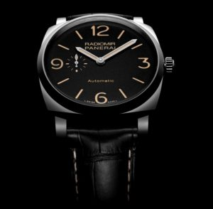 The 45 mm replica Panerai Radiomir 1940 PAM00572 watches have black dials.