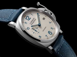 The 38 mm replica Panerai Luminor Due PAM00903 watches have ivory white dials.
