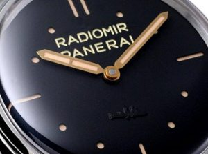 The 47 mm copy Panerai Radiomir PAM00425 watches have black dials.