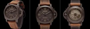 The brown calf leather straps copy Panerai Luminor Marina 1950 PAM00386 watches have brown dials.