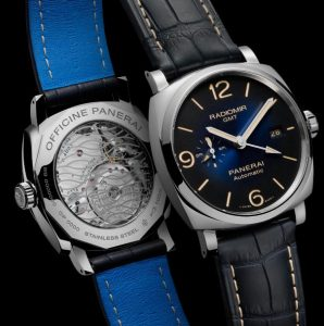 The transparent sapphire backs fake Panerai Radiomir 1940 PAM00945 watches have 3 days power reserve.