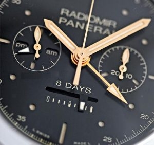 The 45 mm copy watches have black dials.