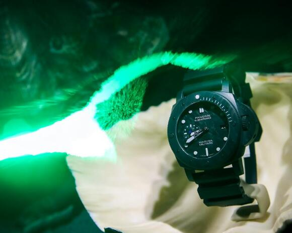 This new Panerai is light due to the innovative material it uses.