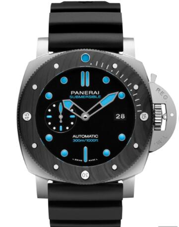 The Panerai Submersible has combined the two innovative materials.