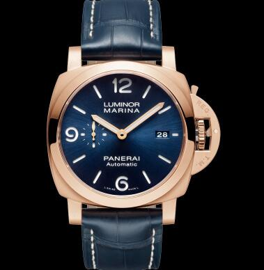 The red gold case makes the best fake Panerai more luxury.