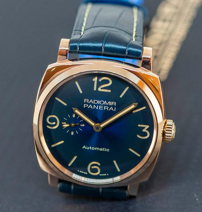 Best fake watches keep impressive with blue color.